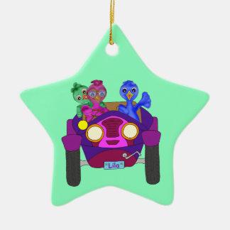 Fahren der Kinder durch Happy Juul Company Keramik Ornament