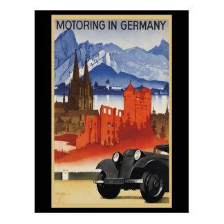Fahren in Deutschland Postkarte