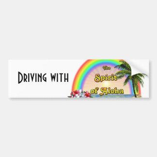 Fahren mit dem Geist von Aloha Autoaufkleber