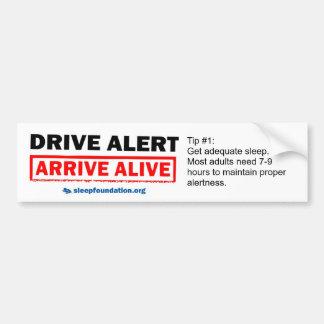 Fahren Sie Alarm, kommen Sie lebendiger Autoaufkleber