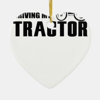 Fahren Sie meinen Traktor Keramik Ornament
