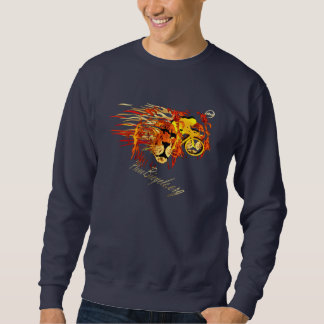 Fahren Sie wie ein Löwe auf Radfahren Sweatshirt