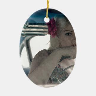 Fahren von Doris Ovales Keramik Ornament