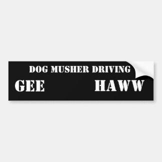 FAHRENDER HUND MUSHER, GEE, HAWW AUTOSTICKER