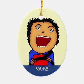 Fahrer-Cartoon Keramik Ornament