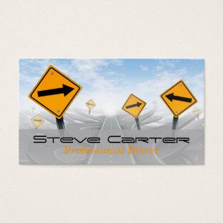 Fahrer/Transport/Automobilverkehrsschild Visitenkarte
