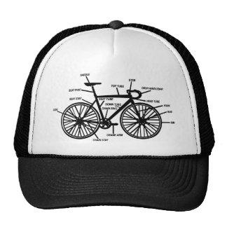 Fahrrad-Anatomielustiger Geekgeeks-T - Shirt Retrokultmütze