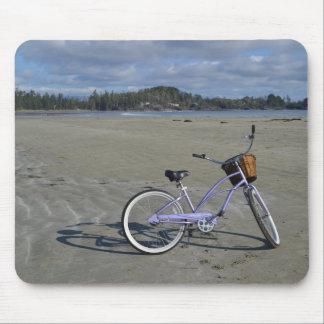 Fahrrad auf dem Strand Mauspads