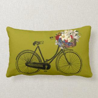 Fahrrad-Blume Throwkissen   des Senfes gelbes Lendenkissen