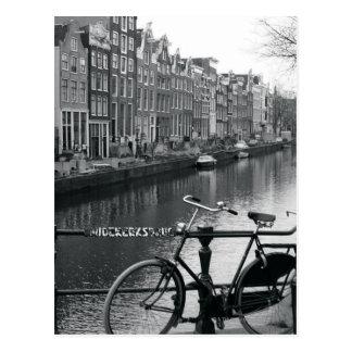 Fahrrad durch Kanal Postkarten