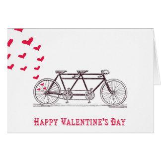 Fahrrad errichtet für die zwei Valentinstag-Karte Karte