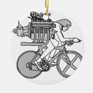 Fahrrad-Fahren Keramik Ornament