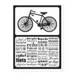 Fahrrad - Fahrrad in den verschiedenen Sprachen Postkarte