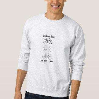Fahrrad für ein Ursache crewneck Sweatshirt