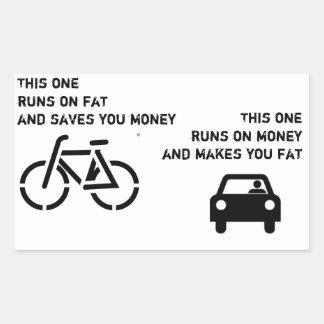 Fahrrad gegen Auto-Aufkleber
