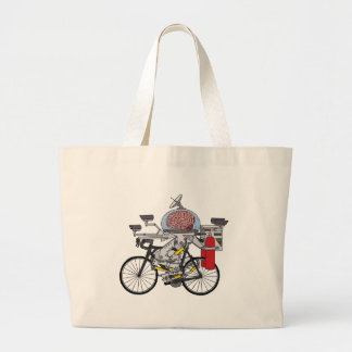 Fahrrad-Gehirn (Radfahrer des Jahres 3000) Jumbo Stoffbeutel