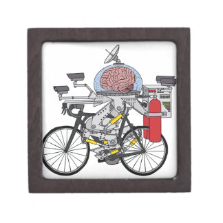 Fahrrad-Gehirn (Radfahrer des Jahres 3000) Schmuckkiste