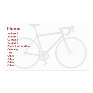 Fahrrad - Geschäft Visitenkarten