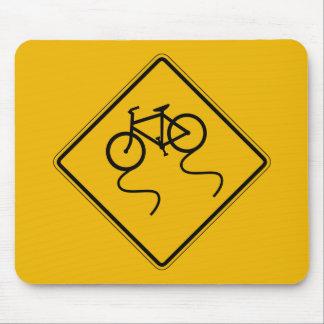 Fahrrad glatt, wenn naß, Verkehrs-Warnzeichen, US Mousepads