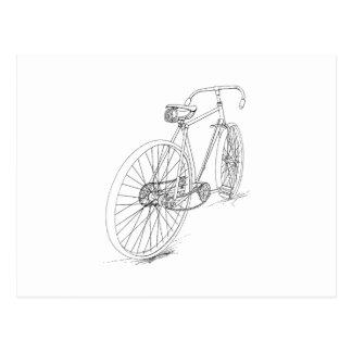 Fahrrad-Grafik Postkarte