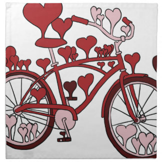 Fahrrad-Herzen Stoffserviette