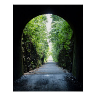Fahrrad-Hintertunnel am Tunnel-Hügel, Illinois Poster