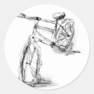 Fahrrad II Runder Aufkleber
