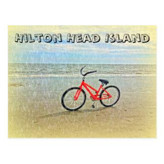 Fahrrad in Sun-Dusche auf Hilton- Head Postkarte