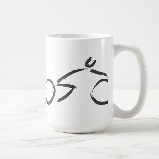 Fahrrad-Kunstswash-Ikone Kaffeetasse