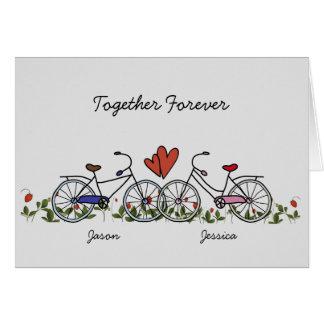 Fahrrad-Liebhaber verbindet Valentinsgruß-Karte Karte