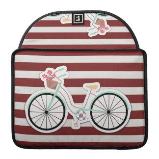 Fahrrad mit Korb der Blumen Sleeve Für MacBooks
