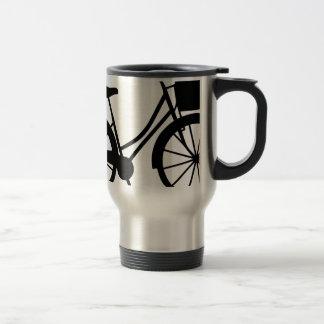 Fahrrad mit Korb Reisebecher
