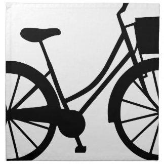 Fahrrad mit Korb Stoffserviette