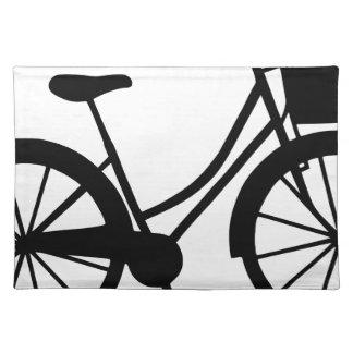 Fahrrad mit Korb Stofftischset