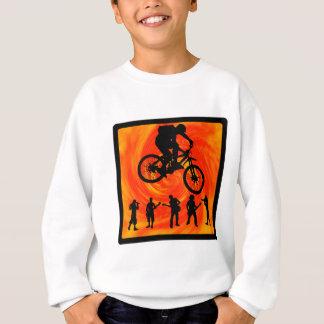Fahrrad-Mittellinie Sweatshirt