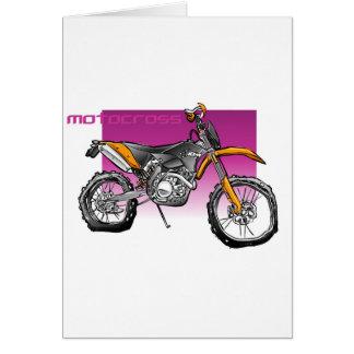 Fahrrad motorcross nicht für den Straßenverkehr Karte