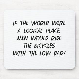 Fahrrad-Philosophie Mauspad