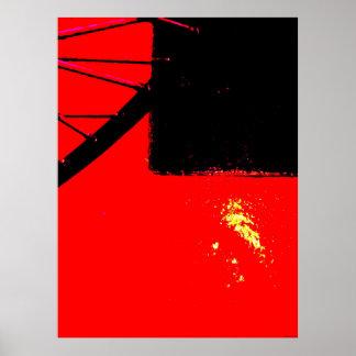 """""""Fahrrad-Rad zwei"""" JTG Kunst-Plakat Poster"""