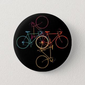 Fahrrad - radfahrenmuster runder button 5,1 cm