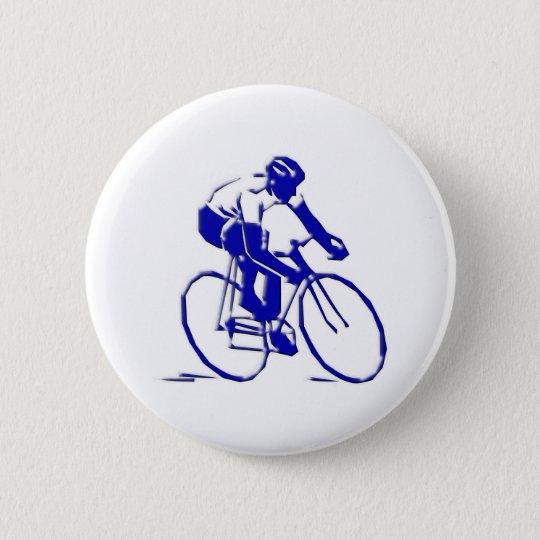 Fahrrad Radler bicycle bike rider Runder Button 5,7 Cm