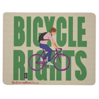 Fahrrad-Rechte im Grün Taschennotizbuch