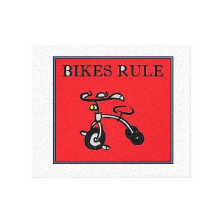 Fahrrad-Regel! Leinwanddruck