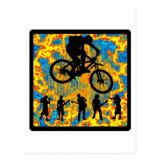 Fahrrad-reiner Morgen Postkarte