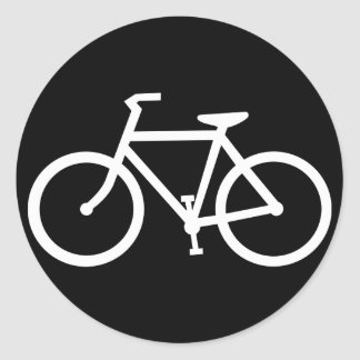 Fahrrad-Silhouette Runder Aufkleber