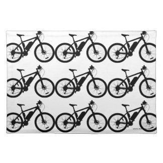 Fahrrad-Silhouette Tischset