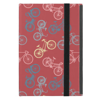 Fahrrad-Silhouettemuster iPad Mini Etui