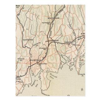 Fahrrad-Straßen in New York und in Connecticut 2 Postkarte