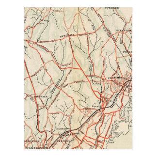 Fahrrad-Straßen in New York und in Connecticut 3 Postkarte