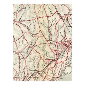 Fahrrad-Straßen in New York und in Connecticut 6 Postkarte