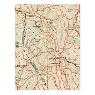 Fahrrad-Straßen in New York und in Connecticut 7 Postkarte